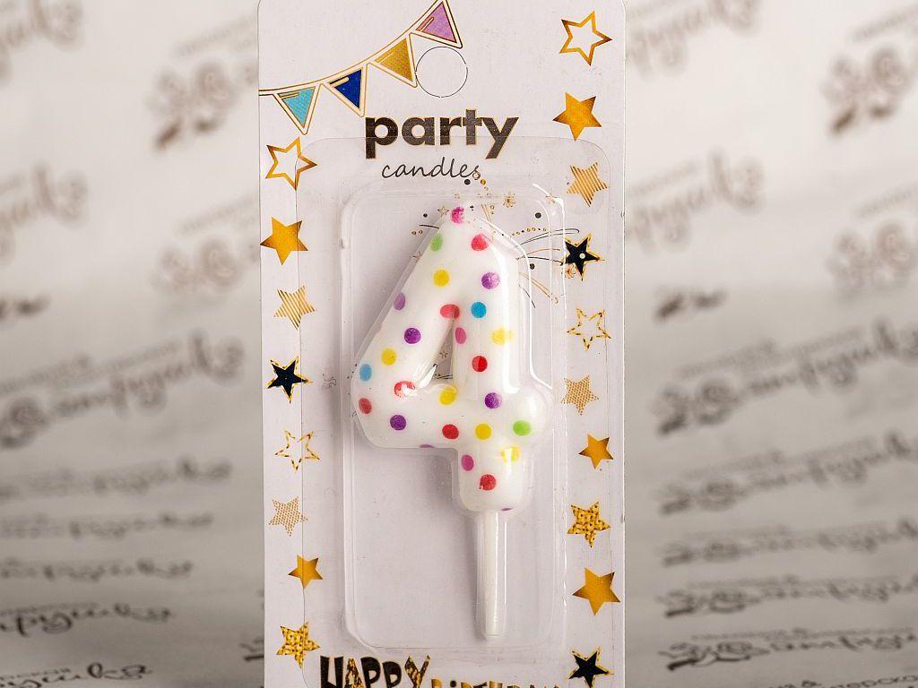 Свеча в торт цифра party 2