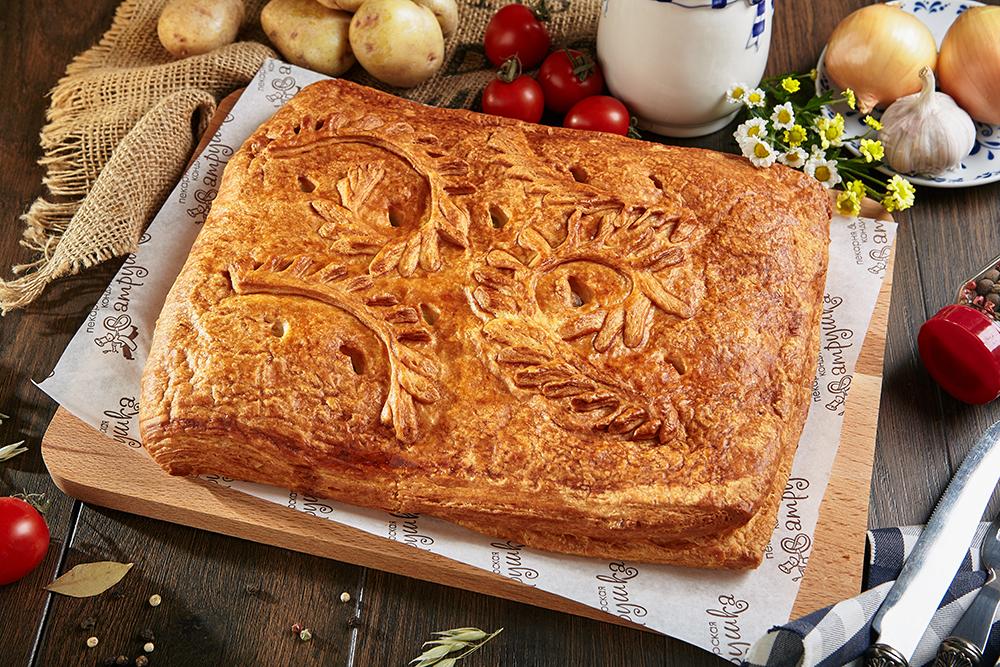 Пирог с курицей и картофелем 2