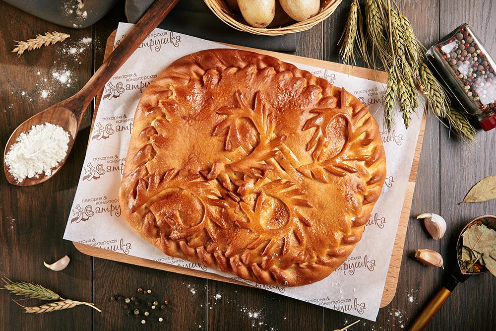 Пирог со свининой и картофелем 1