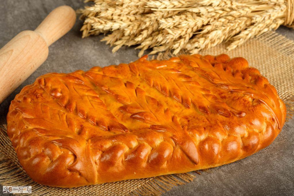 Пирог с форелью речной и рисом 1