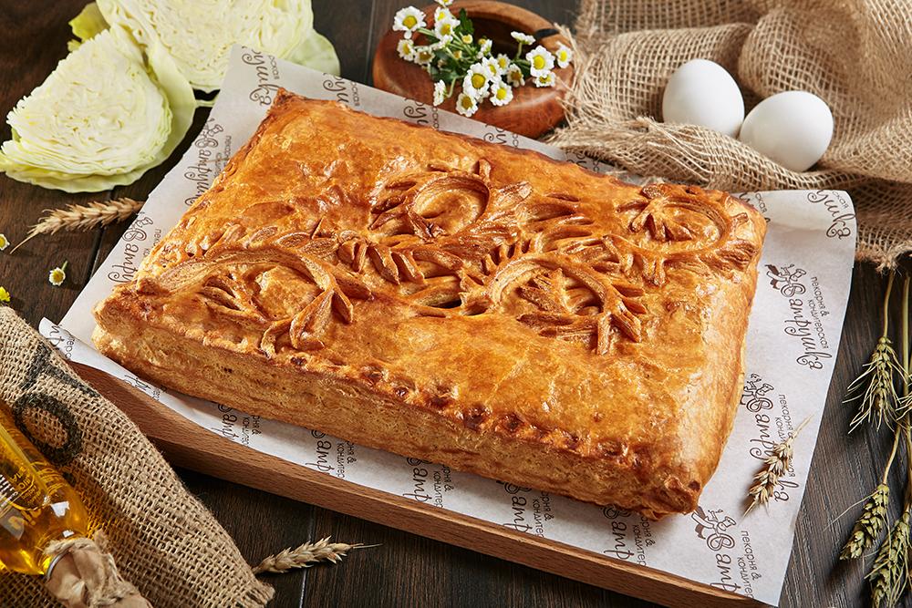 Пирог с капустой и яйцом 2