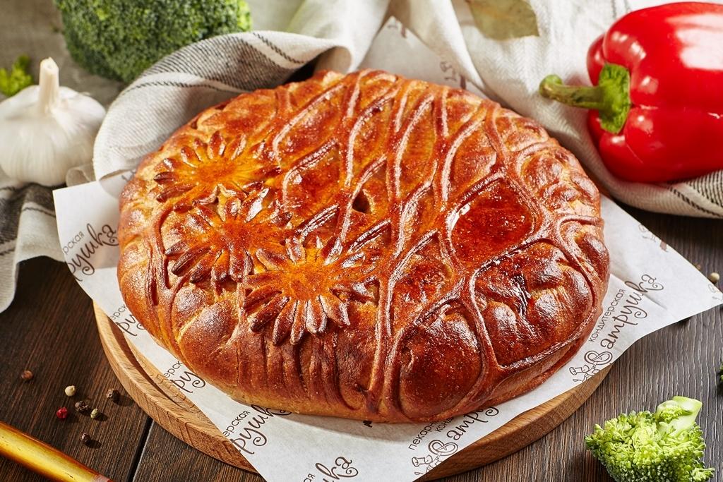 Фитнес пирог с индейкой, брокколи, перцем и сыром 2