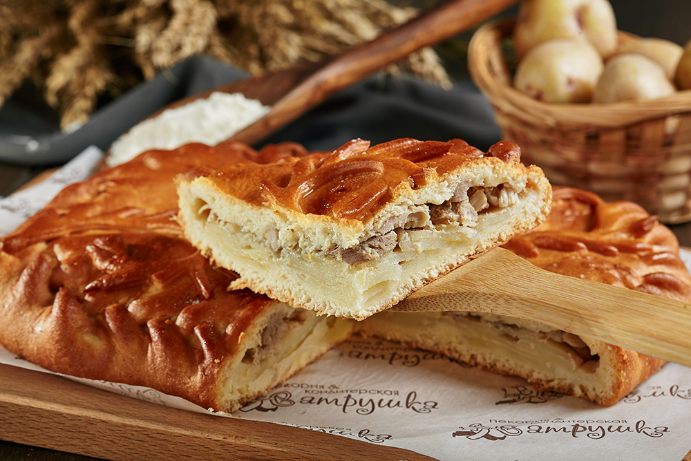Пирог со свининой и картофелем 0