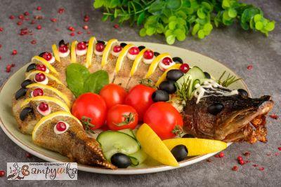 Щука фаршированная (средний вес блюда 1000гр)